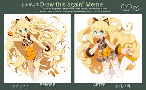 Draw This Again Meme Template - pikiru s draw this again meme by pikiru on deviantart