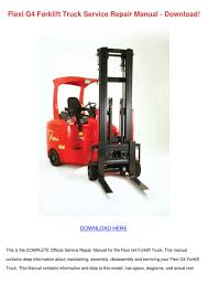 flexi g4 forklift truck service repair manual by corneliusburt issuu