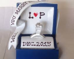 engaged in 2017 personalized ornament we re engaged