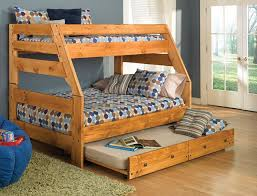 Bunk Bed Wooden Wood Bunk Bed With Trundle Scheduleaplane