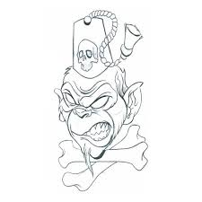 monkey chef tattoo design on biceps photos pictures and