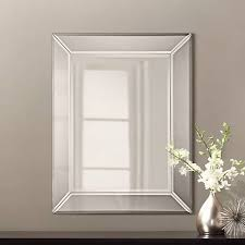 Beveled Bathroom Mirror by Quoizel Carrigan Glass 26