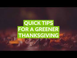 tips for a greener thanksgiving