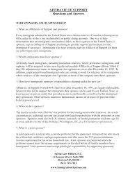 Child Support Letter Agreement Immigration Affidavit Letter Sample Bagnas Affidavit Of