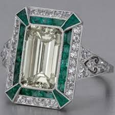 5 31 carat emerald and edwardian diamond ring a big bright and