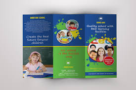 play school brochure templates school tri fold brochure template school brochure template psd