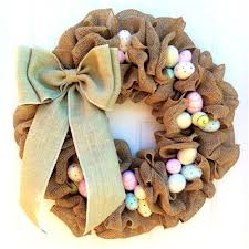 easter wreath ideas how to make a burlap wreath