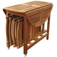 folding table with storage acacia folding table set with 4 chairs