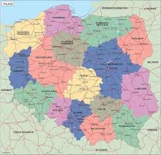 Map Poland Poland Political Map Illustrator Vector Eps Maps Eps Illustrator
