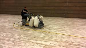 Lagler Hummel Floor Sander by La Salle Yakima Gym Floor Sanding 1 Youtube