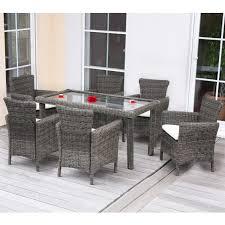 Esszimmertisch Set Luxus Poly Rattan Garten Garnitur Esszimmer Set Romv 6 Sessel