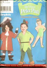 Captain Hook Toddler Halloween Costume Simplicity 9844 Toddler Disney Peter Pan Captain Hook Tinkerbell