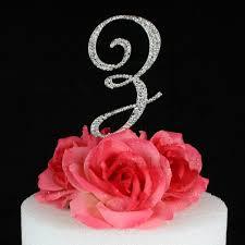 z cake toppers letter z cake topper monogram 5 inch silver rhinestone