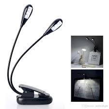 2017 led clip on reading light adjustable neck book light l two