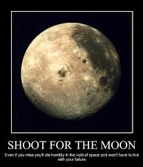 Moon Meme - shoot for the moon meme guy