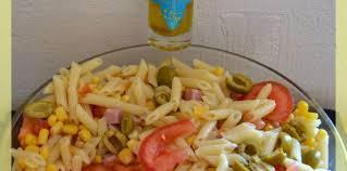 cuisiner à l huile d olive salade de pâtes avec une vinaigrette à l huile d olive recette sur