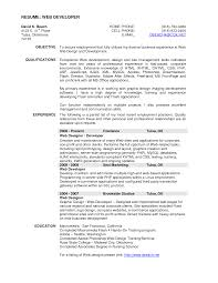 Resume Web Development Resume by Cover Letter Web Design Resume Examples Web Designer Resume Sample