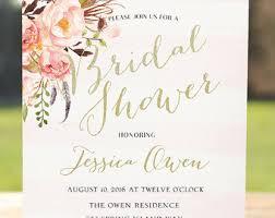 bridal invitations boho bridal shower etsy