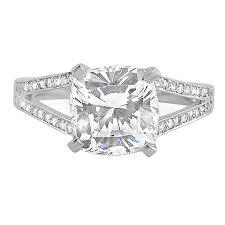 cushion engagement rings 3 3 carat cz cushion cut split shank engagement ring jewelure