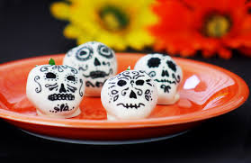 day of the dead white chocolate covered sugar skulls