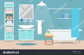 bathroom design template modern bathroom interior tub flat style stock vector 727005457