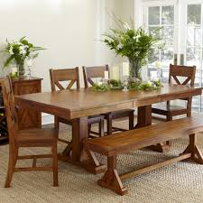 Oak Dining Room Furniture Sets by Dining Room Set With Bench Best Seller Mark Carter 9piece Dining