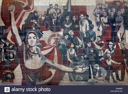 communist propaganda mural on the wall of the kulturpalast in communist propaganda mural on the wall of the kulturpalast in dresden germany