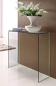 Glass Console Table Small Amazon Co Uk Kitchen Home