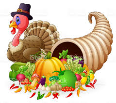 thanksgiving horn of plenty cornucopia of vegetables and