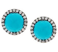 turquoise stud earrings graziela gems sleeping beauty turquoise gemstone stud earrings