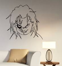 Art Decoration For Home by Chucky Face Wall Art Decal Child U0027s Play Vinyl Sticker Good