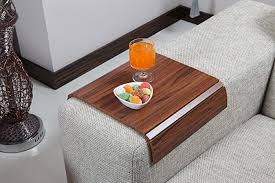 couch arm coffee table amazon com sofa tray table canadian walnut sofa arm tray