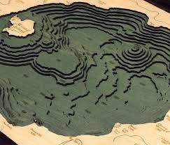 Crater Lake Oregon Map by Crater Lake Oregon Wood Chart Wooden Map Lake Art U2013 The