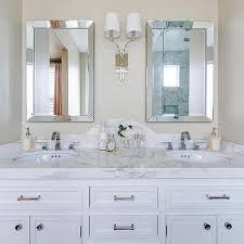 Beveled Bathroom Mirrors Gorgeous Curved Bathroom Mirrors Design Ideas At Beveled Mirror
