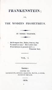 frankenstein or the modern prometheus 1818 mary shelley wiki