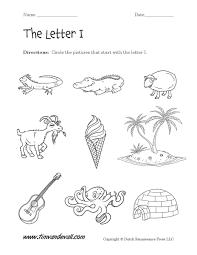 letter i worksheets preschool alphabet printables