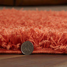 Small Shag Rugs Orange Modern Small 80x150cm Rug Thick 5cm Pile Quality Colour