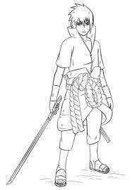 sasuke uchiha naruto coloring free printable coloring