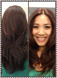 layered crown haircut short layers on long hair with center parting hair pinterest