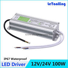 led strip light transformer dc 100w led driver power supply waterproof outdoor 12v 24v 100w