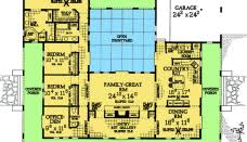 U Shaped House Plans With Courtyard Courtyard U Shaped House Plans U2013 House Design Ideas