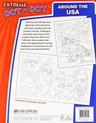 extreme dot to dot activity book around the usa from mindware
