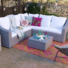 Wicker Living Room Chairs by Gray All Weather Wicker Veracruz Sectional Armless Chair World