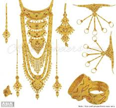 gold rani haar sets 22k tricolor brides pridel set ajns55341 22k gold