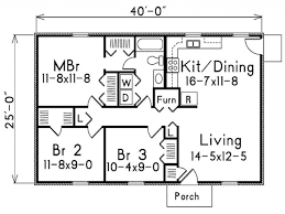 1000 sq ft floor plans modern house plans plan under 1000 sq ft one story bungalow floor