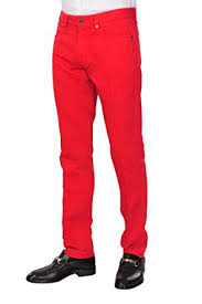 incotex pants men 33 red chinos slim fit regular cut r at amazon