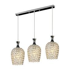 3 Light Kitchen Island Pendant by Dinggu Modern 3 Lights Crystal Pendant Lighting For Kitchen
