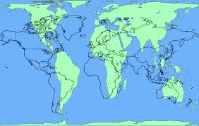 Tropic Of Cancer Map Area Accurate Peters Projection Map Overlaid With Common Mercator