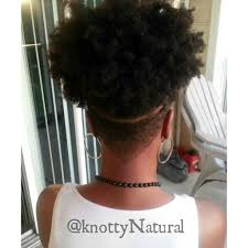 natural black hair styles short in back long in front naturalblkgirlsrock i m faded www knottynatural com black