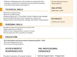 fmcg resume format eliolera com